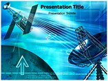 Satellite Radio PowerPoint template