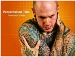 Body Piercing,Tattooing powerpoint template