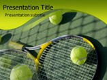 Sports Powerpoint Templates - Tennis Racket