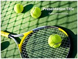 Sports Powerpoint Templates - Tennis player