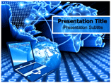 Data Communication and Networking powerpoint template