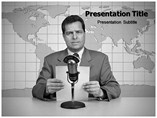 News Reader powerpoint template