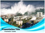 Tsunami Facts PowerPoint template