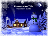 Ice snow powerpoint template
