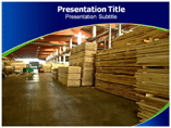 Wooden Industry powerpoint template