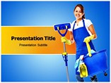 Cleaning Woman PowerPoint Template