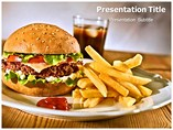 Junk food powerpoint template