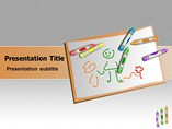 education powerpoint templates - Children Drawings