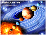 Solar system Facts PowerPoint template