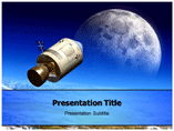 A trip of moon powerpoint template