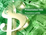 Business powerpoint background on-Dollar Currency