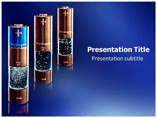 Hydrogen Batteries Explosion powerpoint template