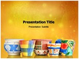 Flower Pots powerpoint template