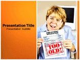 Age Discrimination powerpoint template
