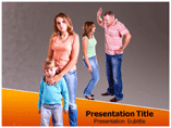 Adult Children of Divorced Parents powerpoint template