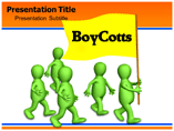Boy Cotts powerpoint template
