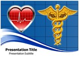 Heart With Medical Logo powerpoint template