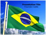 Brazil Flag powerpoint template