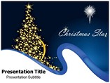 Christmas Star powerpoint template