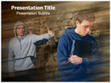 Bullying Statistics powerpoint template
