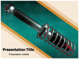 Car Shock Absorber powerpoint template