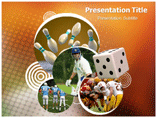Games Outdoors powerpoint template