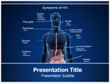 Symptoms of HIV powerpoint template