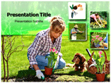 Gardening Tools Powerpoint template
