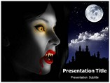Vampire Jaw PowerPoint template