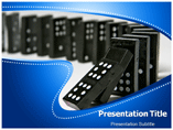 Dominoes Effect Games powerpoint template