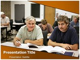 Adult Education powerpoint template