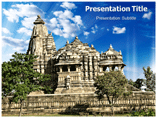 Ancient Temple History powerpoint template