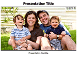 Happy Family Holiday powerpoint template