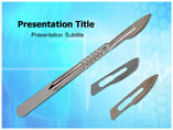Surgeons Scalpels Powerpoint Template
