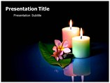 Candles Sticks Powerpoint template