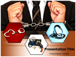 Handcuff Necklace powerpoint template