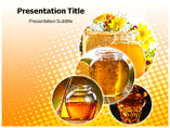 Honey Products PowerPoint template