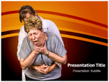 Choking powerpoint template