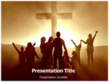 Jesus Cross Symbol PowerPoint template