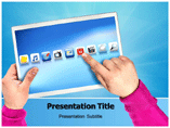 Touch Screen Monitor PowerPoint template
