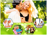 Happy Couple Clipart powerpoint template