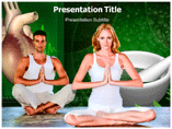 Yoga and Heart Powerpoint Template