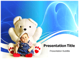 Kid With Teddy powerpoint template