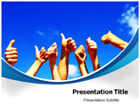 Rasing Hands powerpoint template
