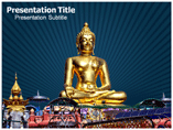 Buddha Wall Art Powerpoint template