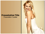Lady In White Coat PowerPoint template
