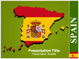 Map Of Spain powerpoint template