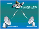 Satellite Communication Tech PowerPoint Template