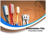 Toothbrush Rug PowerPoint template