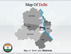 Delhi PowerPoint map